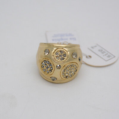 $ CDN12.21 • Buy Size 6 7 8 9 10 Lia Sophia Signed Women Jewelry Unique Matte Gold Plated Ring