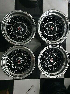 AU1995 • Buy Hotwires 14x8 Holden HK HT HG Torana LH LX SLR SS Wflares Polished New Nuts Caps