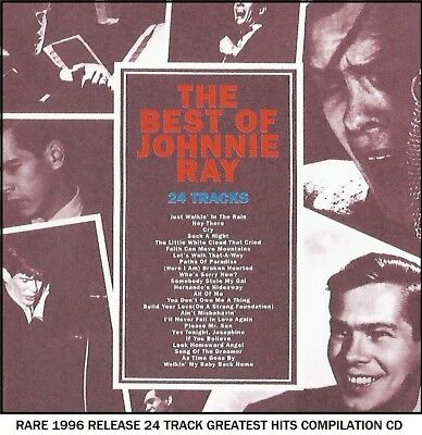 Johnnie Ray - The Very Best Greatest Hits Collection RARE 1996 CD 50's Crooner • 4.25£