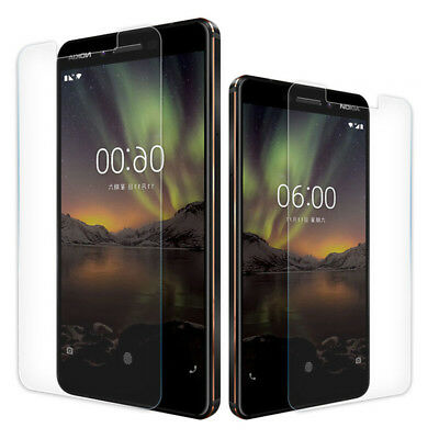 AU4.99 • Buy 2 PACK Premium 9H Tempered Glass Screen Protector For Nokia 6.1/8 Sirocco/7 Plus