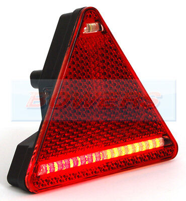 AU92.59 • Buy Was W68p 12v 24v Universal Led Triangle Rear Combination Light Lamp Trailer R/h