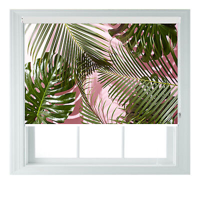 £65 • Buy Tropical Palm Leaves 3D Print Photo Black Out Roller Blinds Various Sizes 2345ft