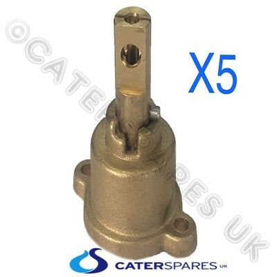 Chinese Cooker Wok Brass Pel Gas Tap Valve Repalcment Head / Shaft Spindle X 5 • 75£