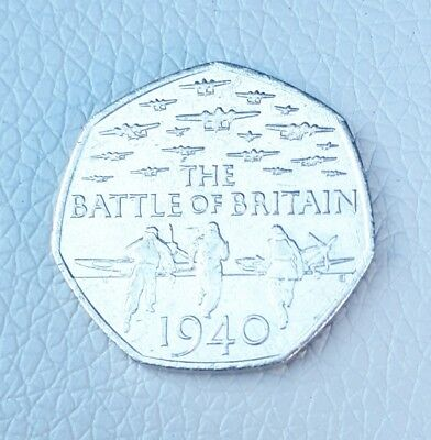 Rare 2015 Battle Of Britain 1940 50p Pence Piece Coin. • 110£