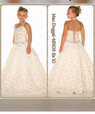 Sugar MacDuggal Ivory Lace Pageant Gown Size 10 New • 400$