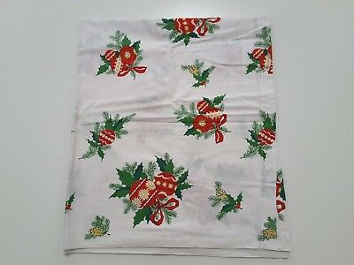 $ CDN42.45 • Buy Vintage Christmas Tablecloth Ornaments Holly Tree 88x43