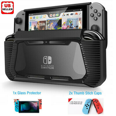 $8.98 • Buy Hybrid Case For Nintendo Switch Rugged Rubberized Snap On Hard Cover TPU