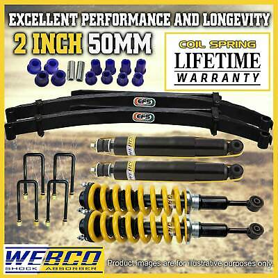 AU1050 • Buy 2 Inch Pre Assembled Lift Kit Shock King Springs EFS Leaf For Nissan Navara D40