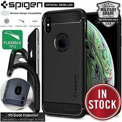 AU17.99 • Buy Genuine SPIGEN Rugged Armor Soft Slim Cover For Apple IPhone XS Max XR X Case