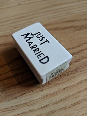 East Of India Rubber Stamp - Just Married Design • 2.75£