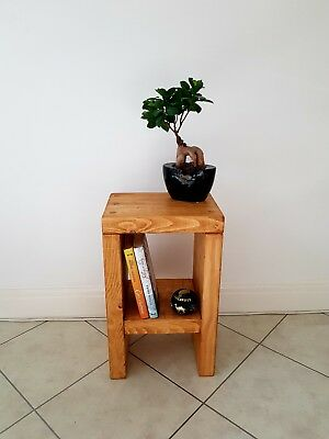 £62.99 • Buy Pair Of Rustic Bedside Tables/Side Table/Small Sofa Table/Solid Pine Wood