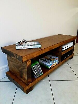 £134.99 • Buy TV Stand/TV Unit/Rustic Handmade Furniture/Solid Pine Wood/TV Cabinet/SALE ON!!!