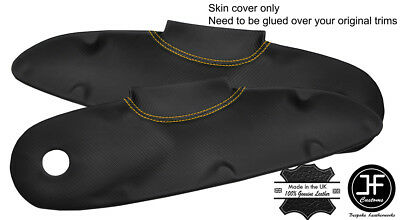 $ CDN141.42 • Buy Yellow Stitch 2x Door Card Trim Carbon Vinyl Covers For Lotus Elise S1 Style 2