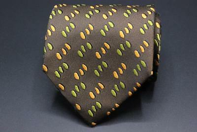 £42.44 • Buy CHARVET Place Vendome Tie. Whimsical Brown W Green Orange Pattern Made In France