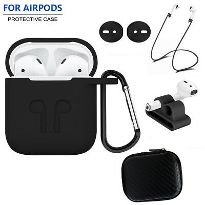 $ CDN5.89 • Buy Silicone Charging Case Cover For Apple AirPods With Anti Lost Strap Accessories