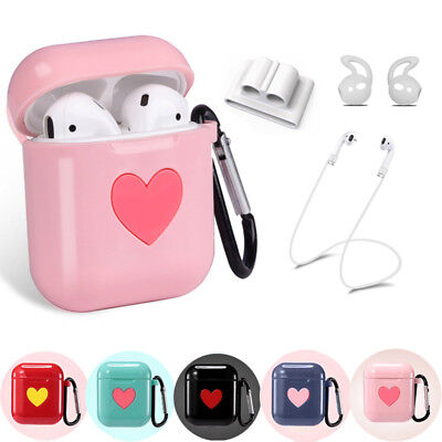 $ CDN6.02 • Buy For Apple AirPods Accessories Silicone Cover Case Kit With Anti Lost Strap Hook