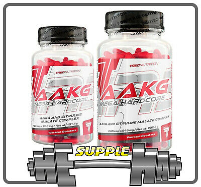 Trec Nutrition AAKG Hardcore Nitric Oxide Booster Muscle Pump Amino Acid 120/240 • 13.49£