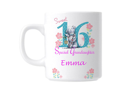 16th Birthday Sweet 16 Grandaughter Personalised Gift Mug • 9.99£