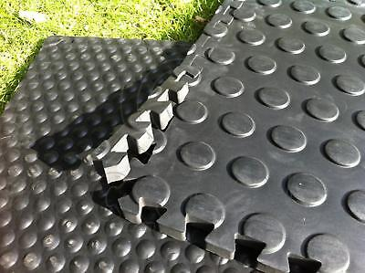£49.50 • Buy Pack Of 6 Horse Stable Mats Flooring Bedding - 22mm Thick EVA Foam - Dotted