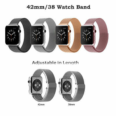 AU12.61 • Buy Stainless Steel Strap Milanese Magnetic Loop Band For Apple Watch All Series AU