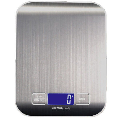 AU16.95 • Buy LCD Stainless Kitchen Cooking Food Electronic Digital Scale Weight 5kg 1g