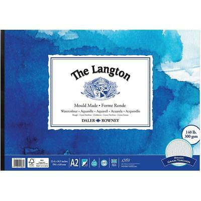 Daler Rowney Langton Watercolour Pad - 140lb / 300gsm - Rough Texture - A2 • 37.99£