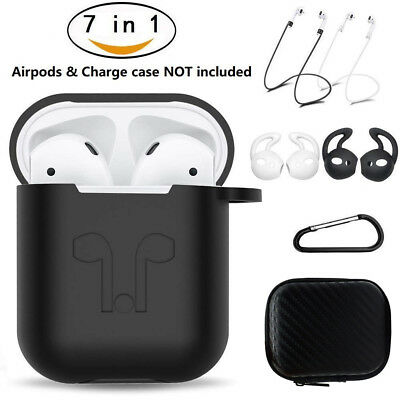 $ CDN6.46 • Buy 7in1 Silicone Cover Case Strap Accessories Kits For Apple AirPods Charging Case