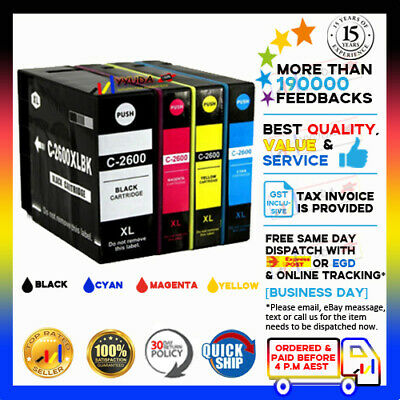 AU18.80 • Buy  4 NoN-OEM PGI-2600XL Ink Cartridge For Canon Maxify MB5060 MB5160 MB5360 MB5460
