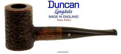 AU65.58 • Buy Duncan Briars Langdale 9mm Filter Rustic Straight Poker Pipe G NEW England