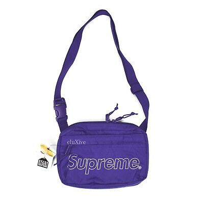 $ CDN261.24 • Buy NWT Supreme Purple Reflective Box Logo Print Small Shoulder Bag FW18 AUTHENTIC