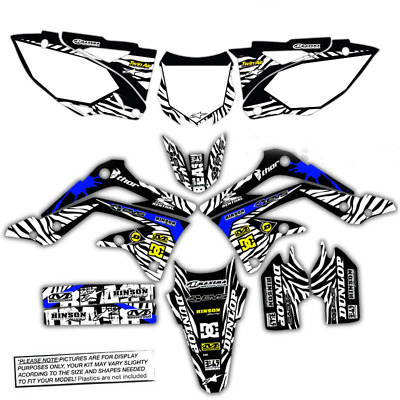 $159.99 • Buy 2003 2004 Yamaha Yz 250f / Yz450f Graphics Kit Beast Mode: Black / Blue Decals