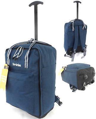 £17.99 • Buy Cabin Approved Wheeled Carry On Flight Luggage Trolley Case Bag Backpack Holdall