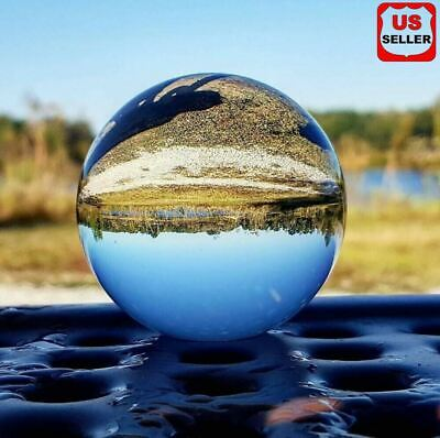 $10.96 • Buy 60mm Photography Crystal Ball Sphere Decoration Lens Photo Prop Lensball Clear