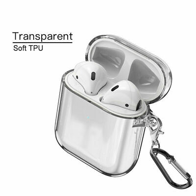 $ CDN4.44 • Buy For Apple AirPods Accessories Clear Crystal Case AirPod Soft TPU Cover Protector