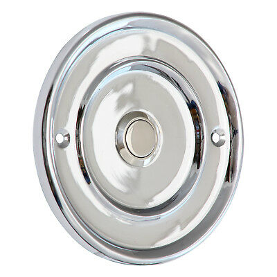 Door Bell Push Press- CHROME+ 100mm Diameter | IP65 WATER RESISTANT RATING • 16£