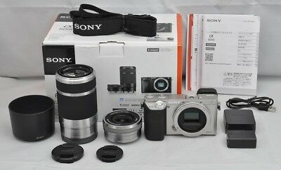 $ CDN959.87 • Buy SONY A6000 Mirrorless Digital Camera Double Zoom Lens Kit Silver Japan Model EMS