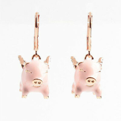 $ CDN24.23 • Buy Kate Spade Enamel Pink Imagination Pig Crystal Drop Earrings W/ Gift Box
