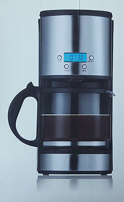 Filter Coffee Maker With Timer 2-12 Cups Capacity 1.5l Mesh Filter 915-1080w • 24.95£