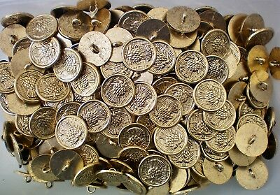 $2.06 • Buy 18mm 28L Gold Yellow Thistle Metal Shank Costume Jacket Button Buttons (XM86)