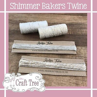 £1.65 • Buy Shimmer Glitter Bakers Twine 10 Metres Wedding Party Crafts String Ribbon
