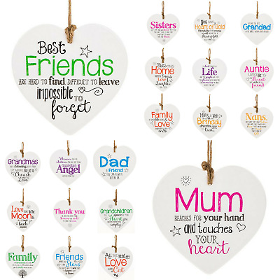 Hanging Ceramic Hearts From The Heart Sentimental Friends Gifts  • 4.25£