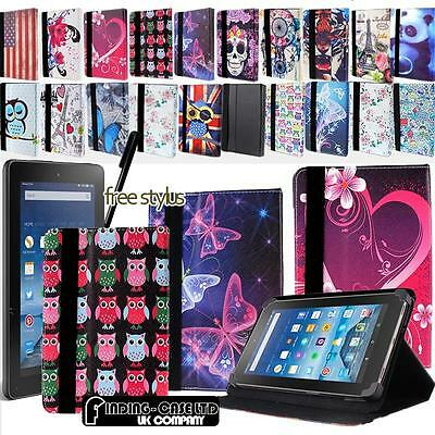 FOLIO LEATHER STAND CASE COVER For Amazon Kindle Fire 7 Inch Tablet + STYLUS • 4.99£