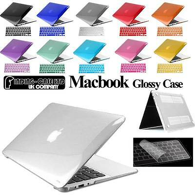 £8.99 • Buy Glossy Clear Case Cover + Keyboard Skin For Apple MacBook Air Pro 11 13 15 Inch
