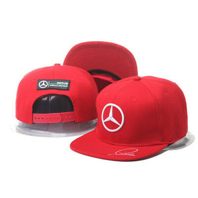 New MERCEDES BENZ² Logo AMG F1 Cap Sport Baseball Hat Snap Back Adjustable  A6 • 10.50 77c284f10e9a