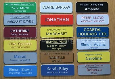 £1.10 • Buy Quality Engraved Name Badges - Choice Of MAGNETIC / PIN BACK / CROCODILE CLIP