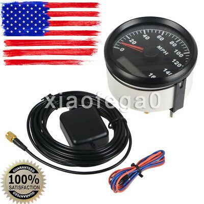 85mm Digital Stainless GPS Speedometer 160MPH Gauge for Car Truck Boat In USA