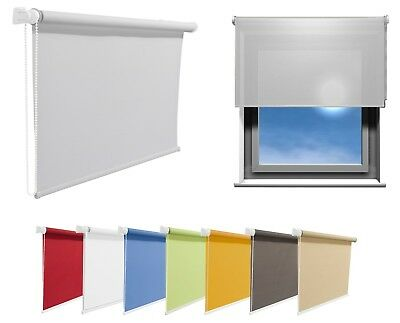Window Roller Blinds Choice Of 19 Width Sizes And 8 Colours 200cm Length/Drop • 35.50£