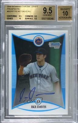 $10.60 • Buy 2008 Bowman Draft Prospects Chrome Ike Davis #BDPP116 BGS 9.5 Auto