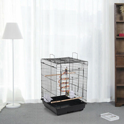 £28.99 • Buy Small Bird Cage Open Top Canary Parakeet Cockatiel Budgie Parrot Cage With Toy