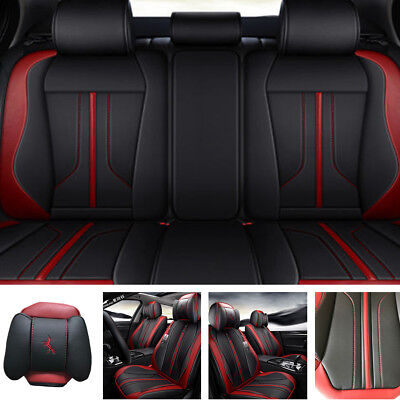 $ CDN276.15 • Buy Deluxe Microfiber Leather Seat Cover Full Set Cushion 5-Sit For Car Accessories